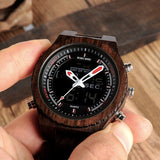 BestBuySale Watch LED Digital Wood Watch for Men