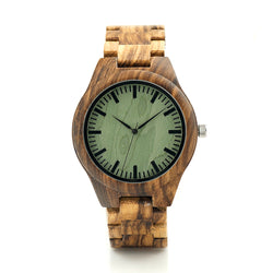 BestBuySaleFashion Men's Zebra Wood Watches