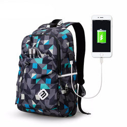 BestBuySaleFashion Student College Backpack With USB Charging