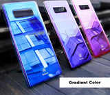 BestBuySaleLuxury  Gradient Color Transparent Hard PC Case For Galaxy Note8  - Transparent Black,Transparent Blue,Transparent Pink