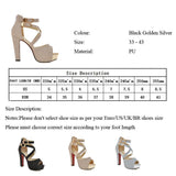 BestOnlineWomen's Fashion Wedding High Heel Sandals - Black,Gold,Silver