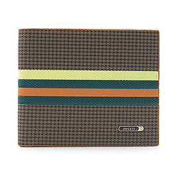 BestBuySale Wallets Men's  Leather Striped Wallet