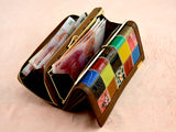 BestOnline3 Fold Fashion Patchwork Women's Wallets - Brown,Red,Black