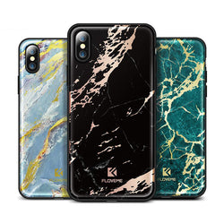 BestOnlineColorful Silicone Marble Case for iPhone X