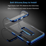 BestBuySaleSoft TPU Clear Case For Samsung Galaxy S9 and S9 Plus - Blue,Black