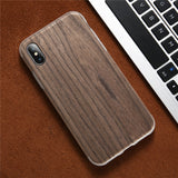 BestBuySaleRetro Wooden Case For iPhone X - Autumn Incense,Black Walnut,Silver Oak,Ebony,Teak