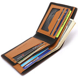 BestBuySaleFashion Men's Pu Leather Wallet - Blue,Brown