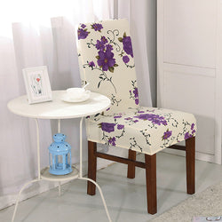 BestOnlineElastic Spandex Floral Printed Chair Covers