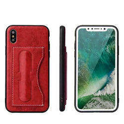 BestOnlineCases With Card Slot & Kickstand  for iPhone X - Black,Brown,Green,Red