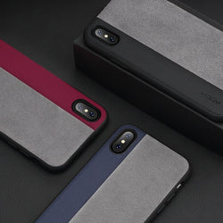 BestOnlineSlim Full Protective Phone Case for iPhone X - Dark Blue,Black,Red