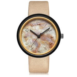 BestBuySale Women's Watches Fashion Women's Marble Carving Design Watch - Brown Black,Grey Black