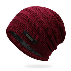 BestBuySaleAcrylic Velvet Beanie Men's Winter Warm Hat -Black,NavyBlue,Red,Gray,Brown