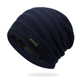 BestOnlineAcrylic Velvet Beanie Men's Winter Warm Hat -Black,NavyBlue,Red,Gray,Brown