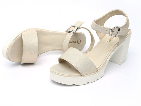 BestOnlineFashion Ankle Strap High Square Heel Summer Sandals Shoes
