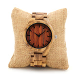 BestOnlineFashion Men's Zebra Wood Watches