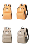 BestBuySaleFashion Canvas Backpack - Red,Dark Gray,Light Gray,Lake Blue,Gray,Orange,Light Coffee