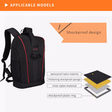 BestBuySale Camera Bag Multifunctional Waterproof Camera Backpack - Black,Orange