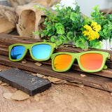 BestBuySale Wooden Sunglasses Green Bamboo Frame Wooden Sunglasses in Wood Box - Blue,Yellow Lenses