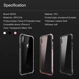 BestOnlineTransparent Case for iPhone X - Transparent,Transparent Black,Transparent Pink