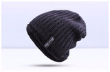 BestBuySaleFashion Warm Winter Knitted Beanie Hat For Men -  Blue, Dark Gray,Khaki, Light Gray, Red