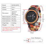 BestOnlineColorful Fashion Zebra & Ebony Wooden Watch With Date Display  in Gift Box