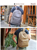 BestBuySale Backpack Anti-theft Canvas Backpack With USB Charging For Teens/Travel - Blue Black/Khaki/Gray