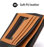 BestOnlineFashion Men's Pu Leather Wallet - Blue,Brown
