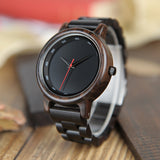 BestBuySale Wooden Watch Men's Ebony Wood Watch With Wooden Gift Box