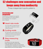 BestBuySale Smart Wristband PINWEI S2 Smart Wristband With Heart Rate Monitor IP67 Waterproof Bluetooth For iOS Android