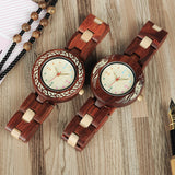 BestBuySaleColorful Wooden Watches for Women + Wood Gift Box