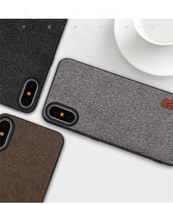 BestOnlineiPhone X Luxury Cover With Silicone Edge - Black,Coffee,Gray,Black with Blue,Coffee with Brown,Gray with White