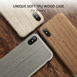 BestOnlineRetro Wooden Case For iPhone X - Autumn Incense,Black Walnut,Silver Oak,Ebony,Teak