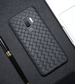 BestOnlineUnique Woven Silicone Case For Samsung Galaxy S9 and S9 Plus Case - Black