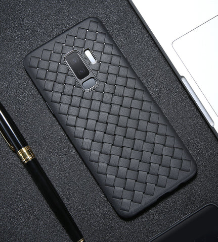 BestBuySale Galaxy S9 & S9 Plus Cases Unique Woven Silicone Case For Samsung Galaxy S9 and S9 Plus Case - Black