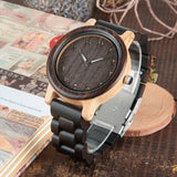 BestBuySaleMen's/Women's Couple's Arabic Numerals Ebony Band Wooden Watches in Gift Box