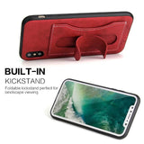 BestBuySale Cases Cases With Card Slot & Kickstand  for iPhone X - Black,Brown,Green,Red