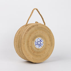 BestBuySale Beach Bags Mini Circle Straw Bags Handmade High Quality Beach Handbags for Women Summer