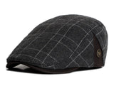 BestOnlinePlaid Beret Hat for Men - Dark Blue Plaid,Dark Yellow Plaid,Dark Gray Plaid