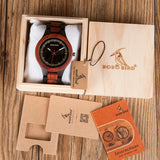 BestBuySaleMen's Two Tone Rosewood/Pinewood Wooden Watches in Wooden Gift Box