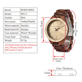 BestOnlineMen's Wood Watch With Metal Face in Wooden Box - Champagne Gold,Space Gray