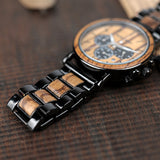 BestBuySale Wooden Watch Stylish Men's Stainless + Wood Chronograph Watch