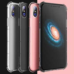 BestBuySale Cases Transparent Case for iPhone X - Transparent,Transparent Black,Transparent Pink