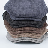 BestOnlineFashion Men's Winter Cotton Beret Hat - Navy,Black,Coffee,Khaki,Grey