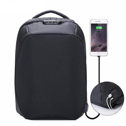 BestBuySaleAnti-theft 15.6 inch Laptop Backpack With External USB Charge - Black,Gray