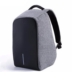 BestBuySale Backpack Anti-theft 17.3 inch Laptop Backpack With External USB Charge - Black,Gray
