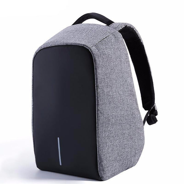 BestBuySaleAnti-theft 17.3 inch Laptop Backpack With External USB Charge - Black,Gray