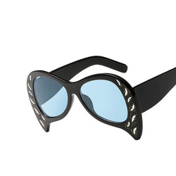 BestOnlineWomen's Unique Cat Eye Fashion Summer Sunglasses-Black Blue,White Gray,Pink Pink,Black Gray,Black Silver,Leopard Tea