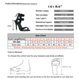 BestOnlineWomen Ankle Strap Fashion Summer High Heels Gladiator Sandals - Black,Blue,Green,Apricot