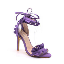 BestOnlineWomen's Lace Up Fashion High Heels - Purple,Black,White