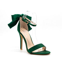 BestOnlineButterfly-knot Women's Fashion High Heels Sandal Wedding Shoes - Green,Pink